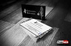 Cartão de visita alessandra bernardes