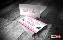 Cartão de visita ateliê de costura kátia maria