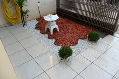 Jardins - com pedras branca seixos ceramico luminaria oriental