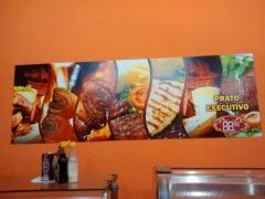 Placa pvc - cominucação visual - restaurante