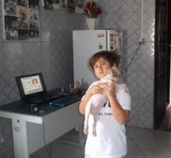 Terrier brasileiro (fox paulistinha) beleza é importante, mas temperamento é fundamental!  se for possível associar ambos melhor ainda! filhote promissor ao colo de seu proprietário joão vitor!  canil pedra de guaratiba em: 30/08/14. filhotes disponíveis em: http://www.canilpguaratiba.com/html/filhotes_tb.html facebook: http://pt-br.facebook/canilpedradeguaratiba instagram: http://instagram.com/canilpguaratiba #canilpedradeguaratibaterrierbrasileiro #canilpedradeguaratibafoxpaulistinha #canilpedradeguaratiba