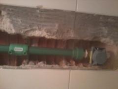 Barrilete  de  água  ( válvula  de  descarga ) tubulaÇÃo  ppr.
