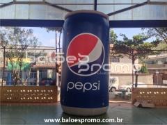 Réplica lata de pepsi com 4m de altura - balÕes promo infláveis promocionais