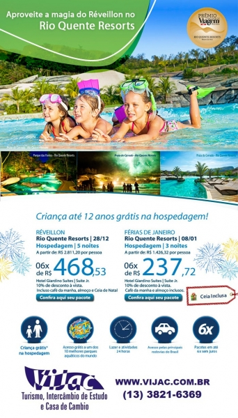 Reveillon no Rio Quente Resorts - Vijac