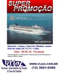 Promoção vijac - msc armonia