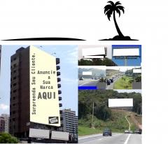 Placas e painéis nas rodovias dupla face, front light, empenas em prédios é com a newbrasil publicidade (11) 2484-8277