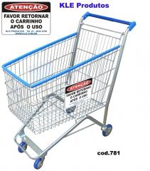 Carrinho de compras supermercardo 160l - placa