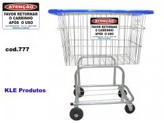 Carrinho de compras 140l - placa