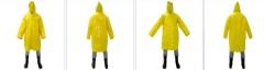 Capa de chuva em pvc forrado amarelo
