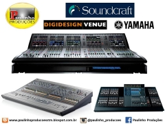 SonorizaÇÃo. paulinho produções tem soundcraft vi6, digidesigner venue, yamaha... em santarém/pa.