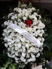 Coroa de flores copos de leite luxo
