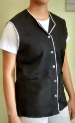 Colete feminino em tecido oxford