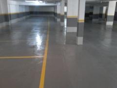 Reforma de piso de garagem com revestimento epoxi
