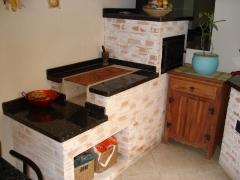 Fogão caipira, fogão a lenha, fogão em tijolinho caiado, www.bellatelha.com.br, 11-4555-5444