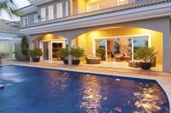 Piscinas, cascatas, aquecimento de piscina  bella telha, www.bellatelha.com.br 11-4555-5444 projeto alexandra godoy