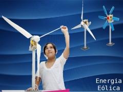 Gerador eólico gigante, carrega pilhas e acende leds com a energia do vento
