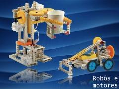 Robôs e veículos de controle remoto, criados e montados por você! inovador e desafiador!