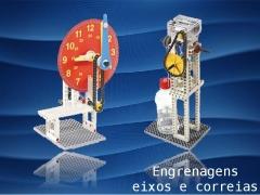 Engrenagens, correias e eixos ensinam princ�pios b�sicos das m�quinas mec�nicas!