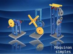 Todas as máquinas simples da mecânica em um único brinquedo.