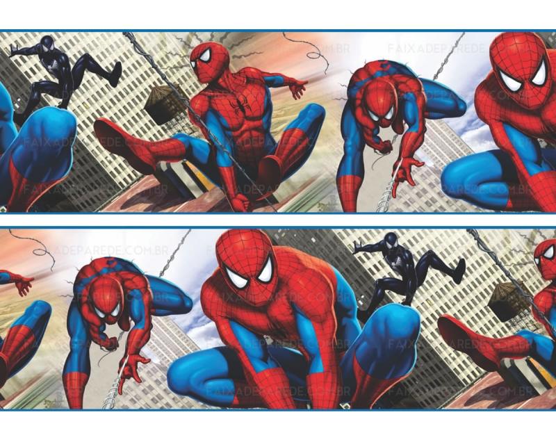 Faixa de Parede Homem-Aranha