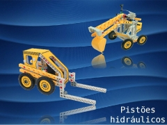 Veja como os pistões hidropneumáticos de grandes veículos de construção resolvem o problema de movimentação de grandes pesos