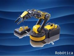 Um braço robótico realista para montar e depois movimentar por controle remoto.