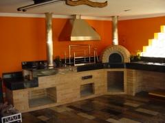 Projetos de churrasqueiras para espaços pequenos, churrasqueira com forno de pizza, fogão a lenha, churrasqueira de apartamento, churrasqueira high tech, churrasqueira moderna é na bella telha 11-4555-5444 www.bellatelha.com.br