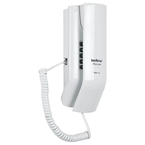 Interfone de Parade Maxcom - TDMI - 200 possui design exclusivo que permite o uso em qualquer ambiente, já que pode ser utilizado em mesa ou instalado na parede do apartamento. É compatível com caixas 4x2 e conta com textura lisa, que facilita a limpeza, volume de toque ajustável .
