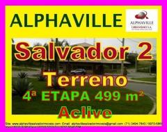 Lote, terreno a venda em Alphaville Salvador 2, escriturado, em aclive, localizado na 4ª etapa, Alphaville Salvador II, com área de 499 m², sendo 14 de frente. O Alphaville Salvador 2 tem um dos melhores sistemas de segurança do Brasil, tem um modelo de ocupação de baixa densidade.Mais detalhes entre em contato com:  Claudio Borges. +55(71)3494-7843 +55(71)99970-6866 Vivo +55(71)98203-0006 Claro +55(71)99297-9846 TIM +55(71)98758-5793 Oi +55(71)99911-1102 WhatsApp