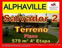 Terreno a venda em Alphaville Salvador 2, 579 m², 4ª Etapa, terreno todo plano, bem localizado no setor 04, em ilha, nascente, rua tranquila do condomínio, escriturado.Mais detalhes entre em contato com:  Claudio Borges. +55(71)3494-7843 +55(71)99970-6866 Vivo +55(71)98203-0006 Claro +55(71)99297-9846 TIM +55(71)98758-5793 Oi +55(71)99911-1102 WhatsApp
