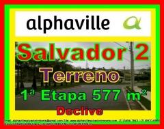 Terreno a venda em Alphaville Salvador 2, 577 m², 1ª Etapa, terreno residencial, nascente, bem localizado no setor 01, com 17 metros de frente e boa topografia, com fundos para a reserva do Centro Tecnológico da Bahia. Venha conferir nossa qualidade de prestação de serviços. Obrigado pela oportunidade de servi-lo (a).   Mais detalhes entre em contato com:  Claudio Borges.  +55(71)3494-7843 +55(71)99911-1102 WhatsApp