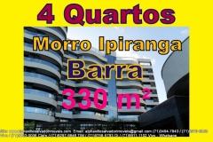 Apartamento 4 Quartos, Barra, Morro do Ipiranga, Salvador. Apartamentos pronto para morar, 330 m², vista para o mar, 4 suítes, todas com varanda, 2 varandas sociais, sendo uma delas gourmet, 5 vagas e 1 depósito na garagem. Localizado no Morro do Ipiranga com uma vista deslumbrante para o mar. Mais detalhes com:  Claudio Borges. +55(71)3494-7843 +55(71)99970-6866 Vivo +55(71)98203-0006 Claro +55(71)99297-9846 TIM +55(71)98758-5793 Oi +55(71)99911-1102 WhatsApp
