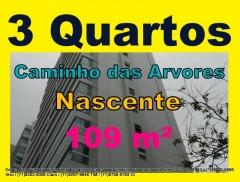 Apartamento 3 Quartos, Caminho das Arvores, 109 m² Apartamento com 3 quartos, sendo 1 suíte, área privativa de 109,37 m², ampla varanda gourmet, depósito privativo. Piso em todos os ambientes, sala para 2 ambientes, andar alto, 2 vagas cobertas.Mais detalhes com:  Claudio Borges. +55(71)3494-7843 +55(71)99970-6866 Vivo +55(71)98203-0006 Claro +55(71)99297-9846 TIM +55(71)98758-5793 Oi +55(71)99911-1102 WhatsApp