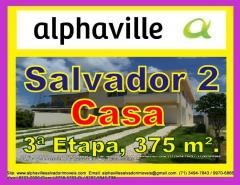 Casa na 3ª Etapa, Alphaville Salvador 2, 375 m² de área construída, com 2 pisos, sala ampla para 3 ambientes, 3 suítes, 1 gabinete, piscina, terreno plano com 490 m². CaracterísticasMais detalhes com:  Claudio Borges. +55(71)3494-7843 +55(71)99970-6866 Vivo +55(71)98203-0006 Claro +55(71)99297-9846 TIM +55(71)98758-5793 Oi +55(71)99911-1102 WhatsApp
