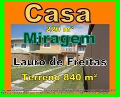 Casa 4 quartos, Miragem, Lauro de Freitas, Bahia Casa em dois pavimentos com 2 salas, 4 quartos sendo 1 suíte, armários em 3 quartos e na cozinha, cortinas em todos quartos e salas, ar condicionados split em três quartos, ventiladores tetos em todos 4 quartos, câmeras de segurança nas partes interna e externa da casa. Casa construída em 2011 com 840 m² de terreno e 220 m² de área construída. Mais detalhes entre em contato com:  Claudio Borges. +55(71)3494-7843 +55(71)99970-6866 Vivo +55(71)98203-0006 Claro +55(71)99297-9846 TIM +55(71)98758-5793 Oi +55(71)99911-1102 WhatsApp