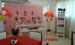Decoração de festa infantil minie vermelha - vintage