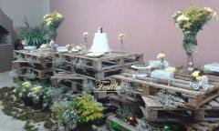 Decoração de casamento rústico com pallets