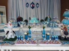 Decoração de festa infantil frozen - festa provençal frozen