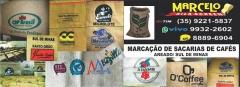 MarcaÇÃo de sacarias de cafés /  rua lourenço trapé, 85 ( próx. ao hotel do sol ) bairro nova areado / areado - mg  whatsapp(vivo) 35- 9932-2602 (tim) 35-9221-5837  site: www.marcelosilkscreen.com.br
