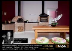 Churrasqueira com forno a lenha, churrasqueiras, fornos de pizza, churrasqueira de apartamento, churrasqueira para predio, churrasqueira high tech, churrasqueira moderna, churrasqueira de predio, churrasqueira de varanda, chopeira, churrasqueira com coifa embutida para fechamento em dry wall. grill  elevação, varanda gourmet, churrasqueira com forno de pizza,  na bella telha vc encontra o modelo que melhor se encaixa no seu sonho... fale conosco 11-4555-5444 www.bellatelha.com.br. este projeto é da arquiteta orlane santos