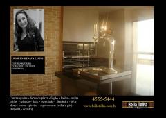 Churrasqueira de apartamento, churrasqueira para predio, churrasqueira high tech, churrasqueira moderna, churrasqueira de predio, churrasqueira de varanda, chopeira, churrasqueira com coifa embutida para fechamento em dry wall. grill  elevação, varanda gourmet, na bella telha vc encontra o modelo que melhor se encaixa no seu sonho... fale conosco 11-4555-5444 www.bellatelha.com.br. este projeto é da arquiteta renata pinesi