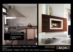 Churrasqueira high tech, churrasqueira e forno de pizza, churrasqueira de alvenaria, churrasqueira com coifa, churrasqueira moderna, churrasqueira de apartamento, na bella telha www.bellatelha.com.br, 11-4555-5444, vc encontra todos os modelos de churrasqueiras para  apartamento, churrasqueira para area de lazer, churrasqueira de predio, fogão a lenha, fogão caipira, forninho a lenha, grill elevação, grill, acessórios para churrasqueira,  churrasqueira de tijolinho, churrasqueira sem fumaça, churrasqueira a gas, churrasqueira eletrica, churrasqueira de embutir, chopeira, projetos de churrasqueiras, lareiras; lareira eletrica, lareira ecologica, lareira a gás com pedras vulcanicas,  telhados, deck, pergolado, banheiras, piscina, saunas, spa, ofurÔ, pressurizador, aquecedor. este projeto é da arquiteta anny machado e luciana machado  em parceria com a bella telha