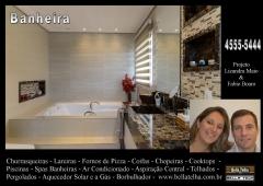 Banheira, banheira com instalação, projeto com banheira, churrasqueira high tech, churrasqueira e forno de pizza, churrasqueira de alvenaria, churrasqueira com coifa, churrasqueira moderna, churrasqueira de apartamento, na bella telha www.bellatelha.com.br, 11-4555-5444, vc encontra todos os modelos de churrasqueiras para  apartamento, churrasqueira para area de lazer, churrasqueira de predio, fogão a lenha, fogão caipira, forninho a lenha, grill elevação, grill, acessórios para churrasqueira,  churrasqueira de tijolinho, churrasqueira sem fumaça, churrasqueira a gas, churrasqueira eletrica, churrasqueira de embutir, chopeira, projetos de churrasqueiras, lareiras; lareira eletrica, lareira ecologica, lareira a gás com pedras vulcanicas,  telhados, deck, pergolado, banheiras, piscina, saunas, spa, ofurÔ, pressurizador, aquecedor. este projeto é dos arquitetos lisandra maio e fabio buoro  em parceria com a bella telha