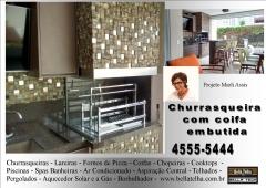 As churrasqueiras podem ser churrasqueira high tech, churrasqueira e forno de pizza, churrasqueira de alvenaria, churrasqueira com coifa, churrasqueira moderna, churrasqueira de apartamento,churrasqueira eletrica, churrasqueira sem fumaça e chopeira.  lareiras; lareira eletrica, lareira ecologica, lareira a gás com pedras vulcanicas,na bella telha www.bellatelha.com.br, 11-4555-5444, vc encontra todos os modelos de churrasqueiras para  apartamento, churrasqueira para area de lazer, churrasqueira de predio, fogão a lenha, fogão caipira, forninho a lenha, grill elevação, grill, acessórios para churrasqueira,  churrasqueira de tijolinho, churrasqueira sem fumaça, churrasqueira a gas, churrasqueira eletrica, churrasqueira de embutir, chopeira, projetos de churrasqueiras,   telhados, deck, pergolado, banheiras, piscina, saunas, spa, ofurÔ, pressurizador, aquecedor. este projeto é da arquiteta marli assis  em parceria com a bella telha