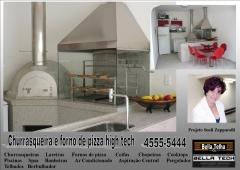 Churrasqueira e forno de pizza, churrasqueira de alvenaria, churrasqueira com coifa, churrasqueira moderna, churrasqueira de apartamento, lareiras; lareira eletrica, lareira ecologica, lareira a gás com pedras vulcanicas,na bella telha www.bellatelha.com.br, 11-4555-5444, vc encontra todos os modelos de churrasqueiras para  apartamento, churrasqueira para area de lazer, churrasqueira de predio, fogão a lenha, fogão caipira, forninho a lenha, grill elevação, grill, acessórios para churrasqueira,  churrasqueira de tijolinho, churrasqueira sem fumaça, churrasqueira a gas, churrasqueira eletrica, churrasqueira de embutir, chopeira, projetos de churrasqueiras,   telhados, deck, pergolado, banheiras, piscina, saunas, spa, ofurÔ, pressurizador, aquecedor. este projeto é da arquiteta sueli zapparolli  em parceria com a bella telha