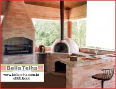 Forno igloo, forno iglu, forno de pizza, forno para pizzaria, churrasqueira de alvenaria, churrasqueira de tijolinho, churrasqueira com fog�o a lenha e forno de pizza. bella telha 11-4555-5444 www.bellatelha.com.br
