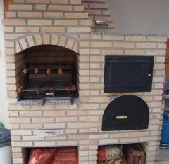 Forno napolitano, forno para apartamento, forninho acoplado a churrasqueira, churrasqueira de alvenaria. bella telha www.bellatelha.com.br 11-4555-5444