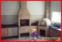 Forno igloo, forno iglu, forno de pizza, forno para pizzaria, churrasqueira de alvenaria, churrasqueira de tijolinho, churrasqueira com fog�o a lenha e forno de pizza. bella telha 11-4555-5444 www.bellatelha.com.br projeto do arquiteto arnaldo muzio jr