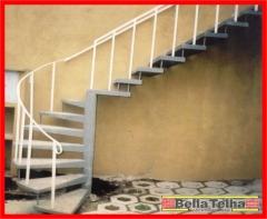 Escada caracol concreto, escada caracol fabrica, escadas, escadas pre fabricadas,escada caracol, escada direto da fabrica, escada pre fabricada, escada caracol em sp, escada caracol menor preço, escada reta, escada l, escada u. bella telha 111-4555-5444 - www.bellatelha.com.br