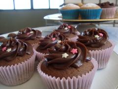 Cupcakes de brigadeiro e muffins